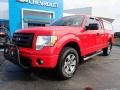 2012 Race Red Ford F150 STX SuperCab 4x4  photo #2