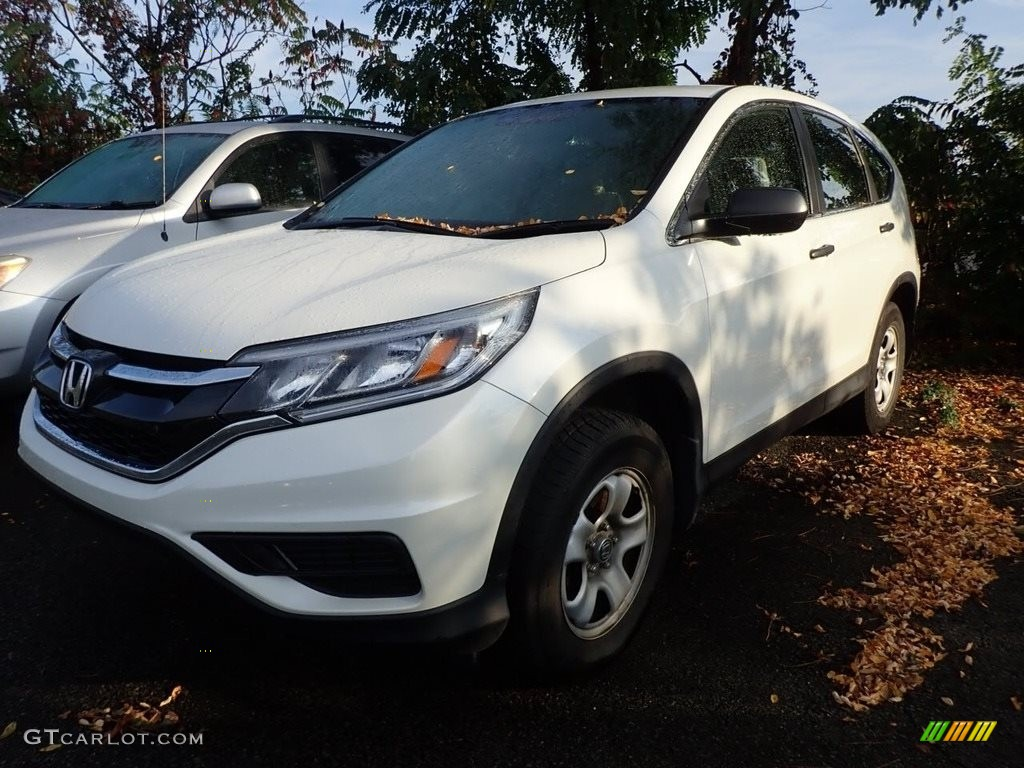 2016 CR-V LX AWD - White Diamond Pearl / Beige photo #1