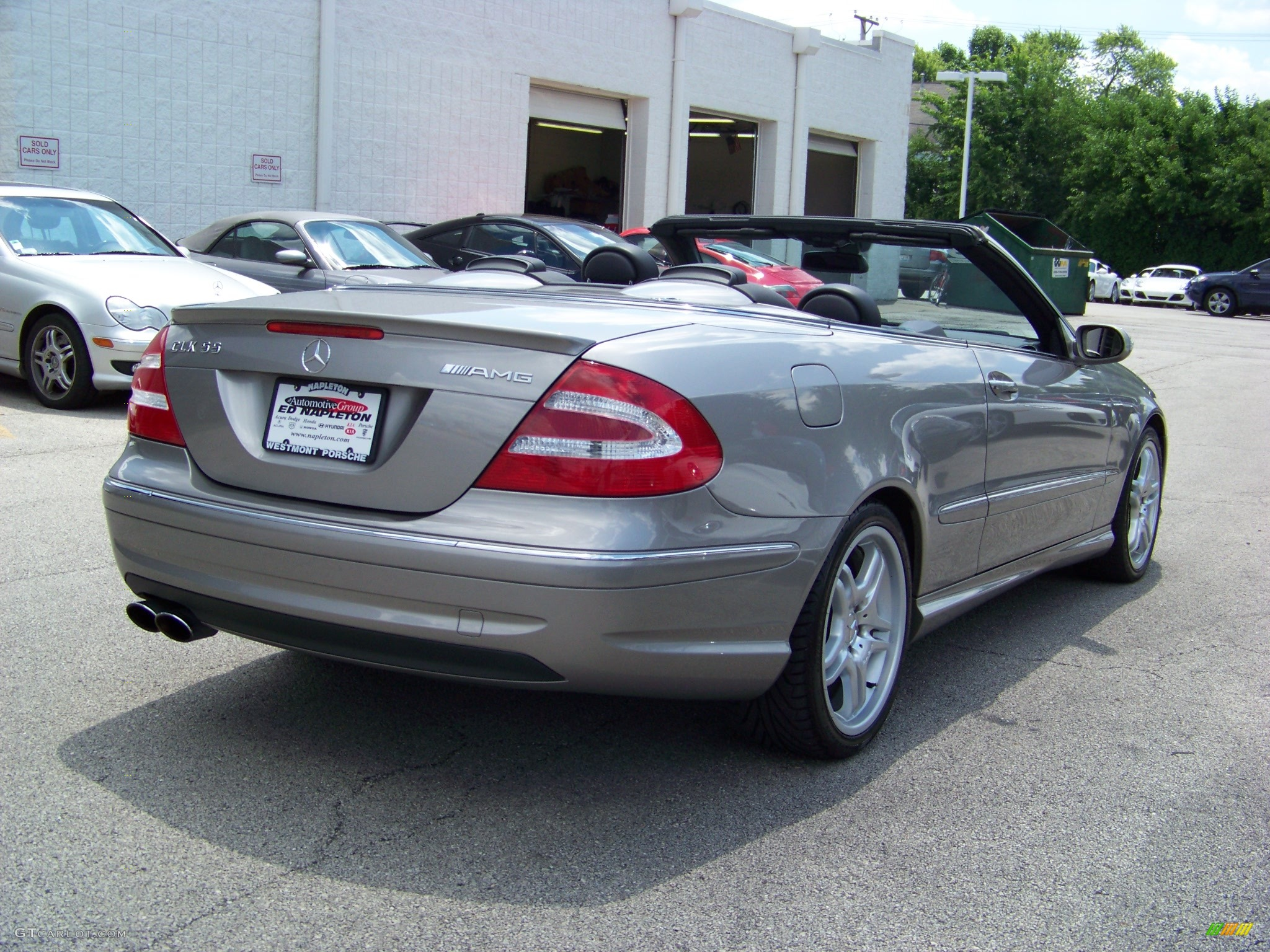 2005 pewter metallic mercedes benz clk 55 amg cabriolet. Black Bedroom Furniture Sets. Home Design Ideas