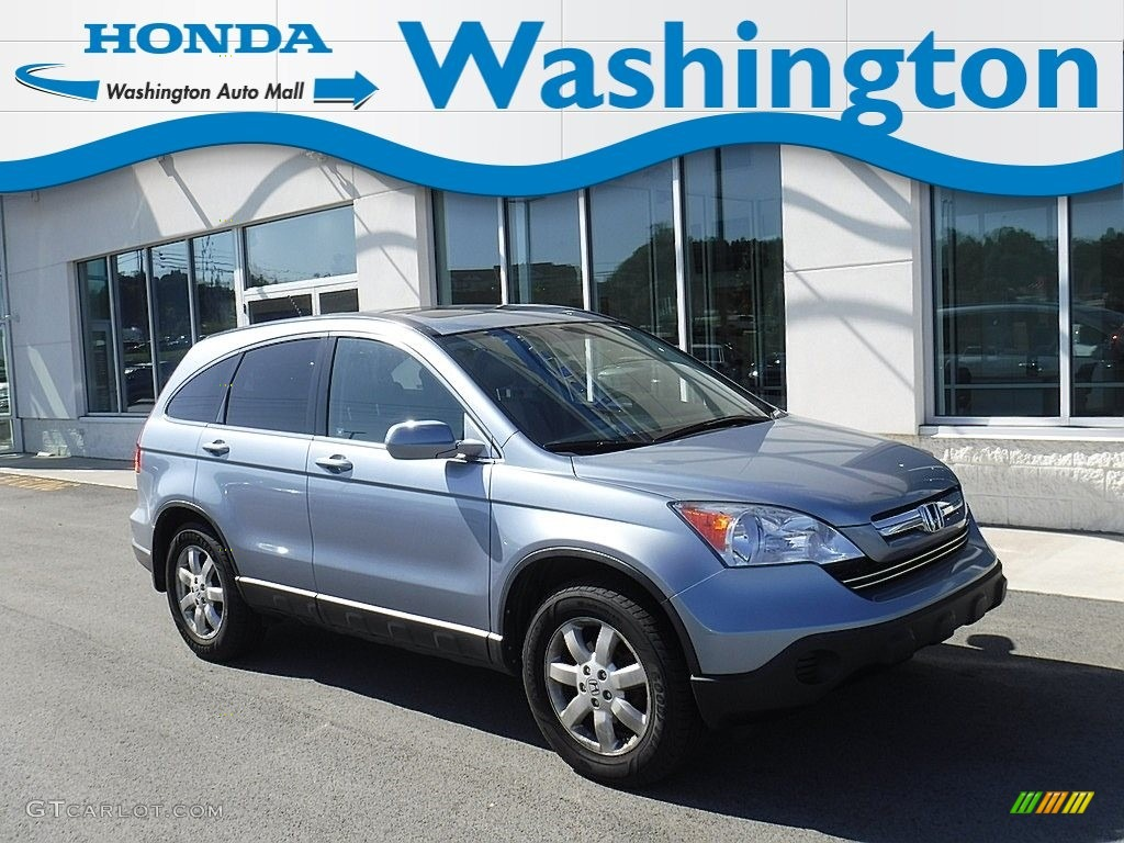 2007 CR-V EX-L 4WD - Glacier Blue Metallic / Gray photo #1