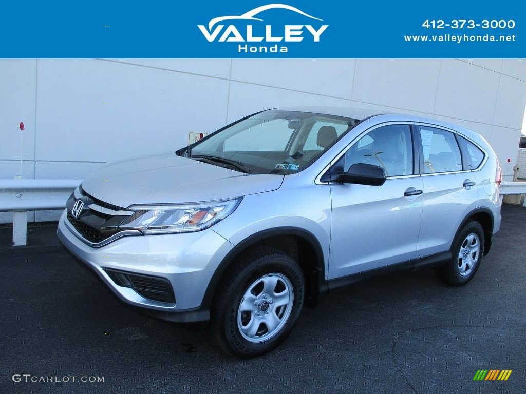 2016 CR-V LX AWD - Alabaster Silver Metallic / Gray photo #1