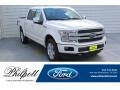 2019 White Platinum Ford F150 Lariat SuperCrew 4x4 #135570703