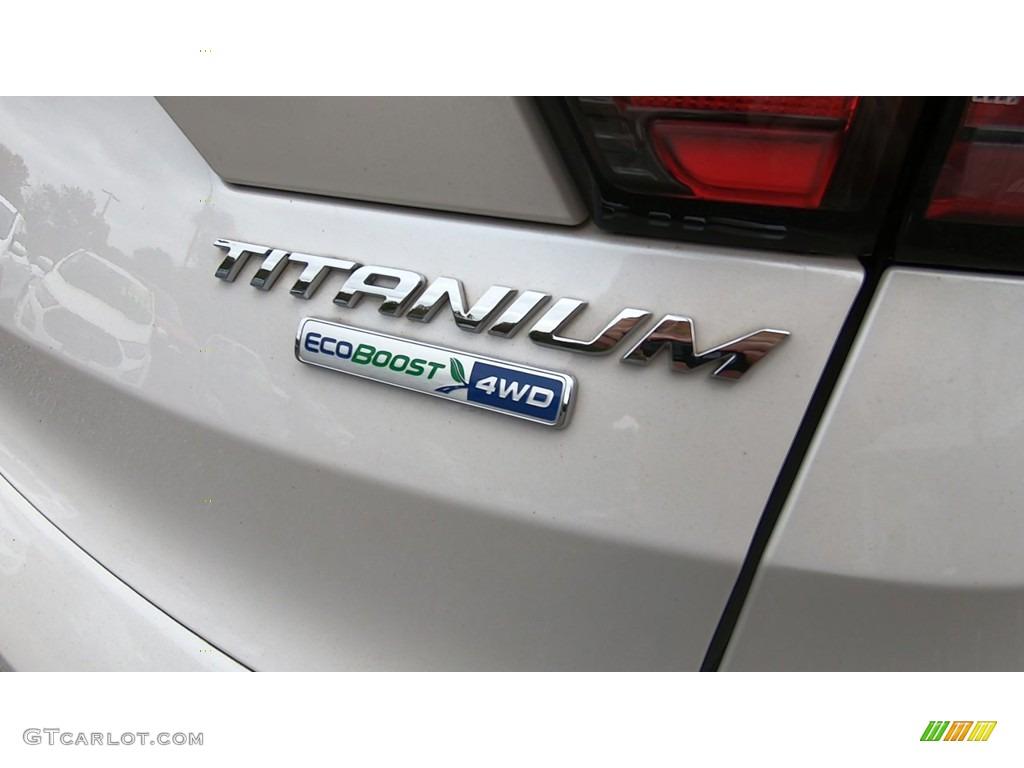 2017 Escape Titanium 4WD - White Platinum / Medium Light Stone photo #9