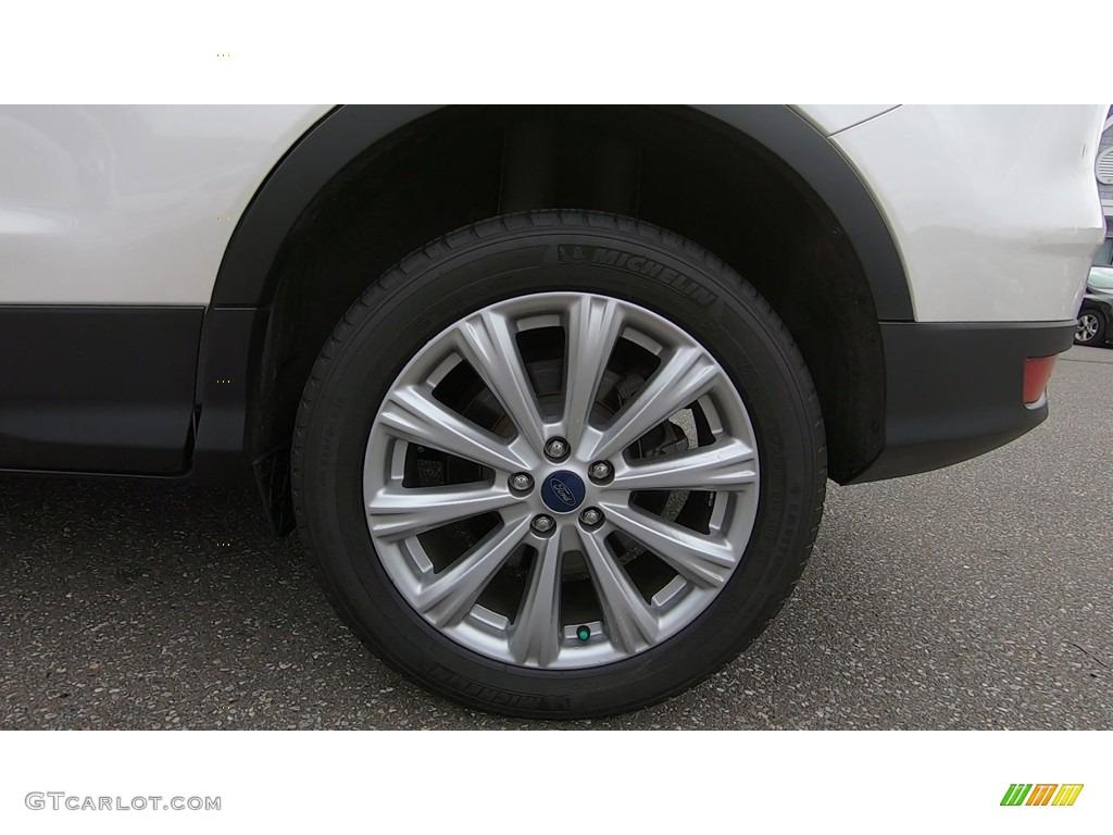 2017 Escape Titanium 4WD - White Platinum / Medium Light Stone photo #21