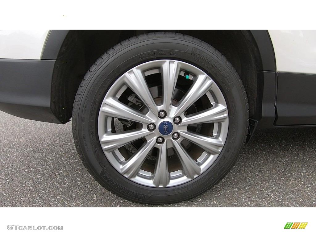 2017 Escape Titanium 4WD - White Platinum / Medium Light Stone photo #23