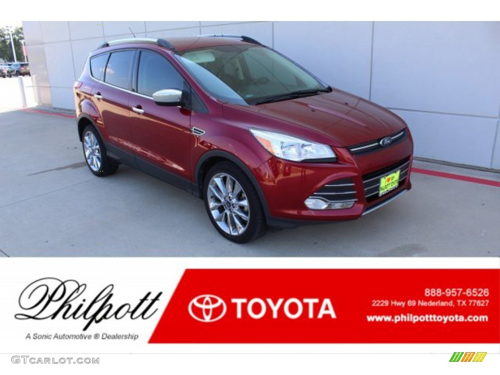 2014 Escape SE 1.6L EcoBoost - Ruby Red / Charcoal Black photo #1
