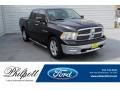 2010 Brilliant Black Crystal Pearl Dodge Ram 1500 SLT Crew Cab #135632837