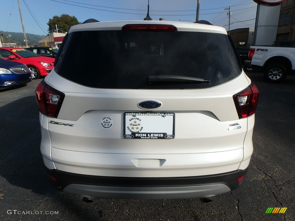 2019 Escape SEL 4WD - White Platinum / Chromite Gray/Charcoal Black photo #3
