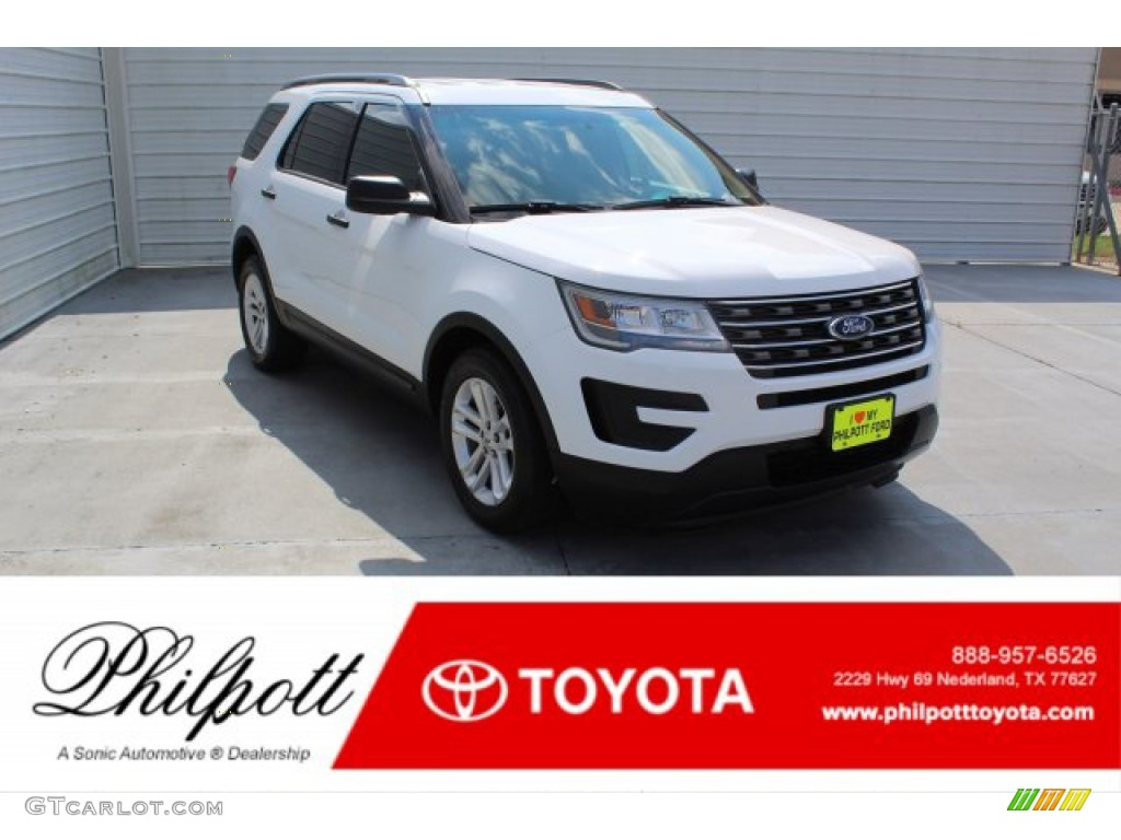 2016 Explorer FWD - Oxford White / Medium Light Camel photo #1