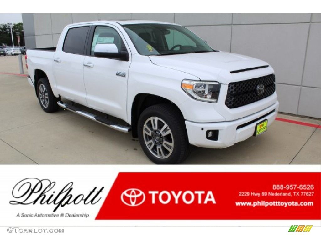 2020 Tundra Platinum CrewMax 4x4 - Super White / Black photo #1