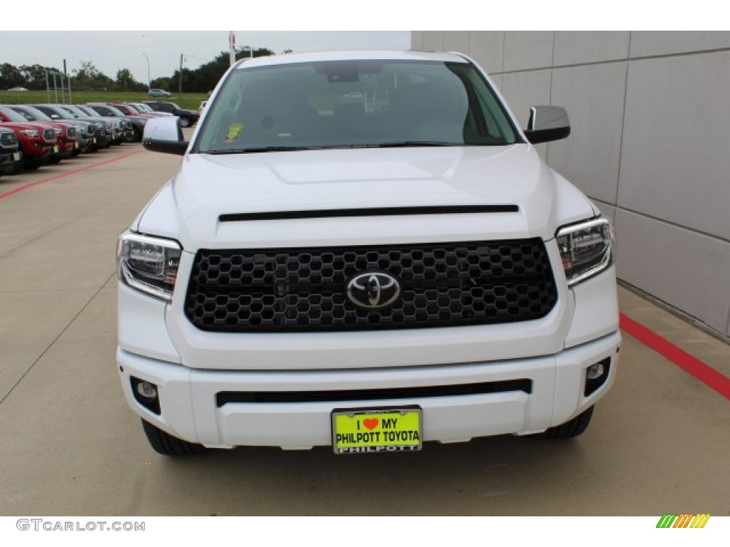 2020 Tundra Platinum CrewMax 4x4 - Super White / Black photo #3