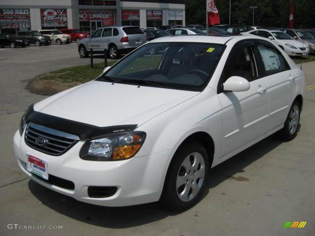 2009 Spectra EX Sedan   Clear White / Gray Photo #1