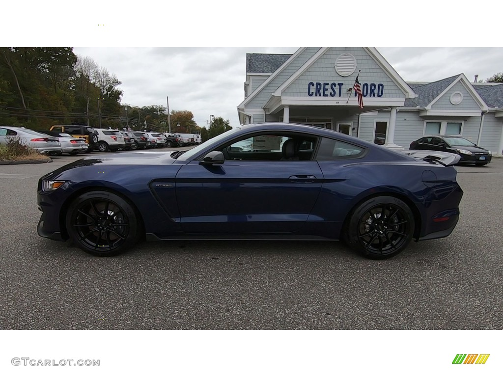 2019 Mustang Shelby GT350 - Kona Blue / GT350 Ebony Leather/Miko Suede photo #4