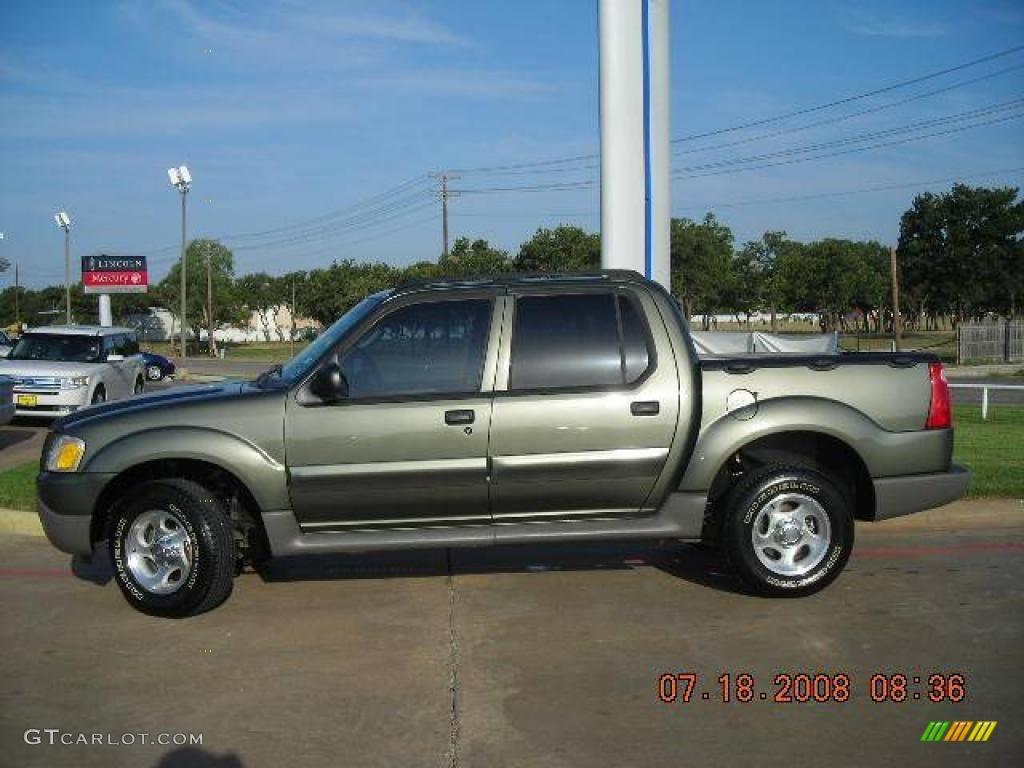 2003 Estate Green Metallic Ford Explorer Sport Trac XLS 1347817 Photo 2 G