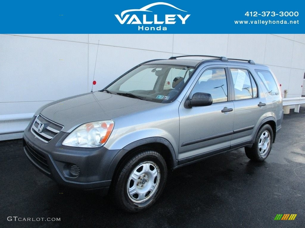 2006 CR-V LX 4WD - Alabaster Silver Metallic / Black photo #1
