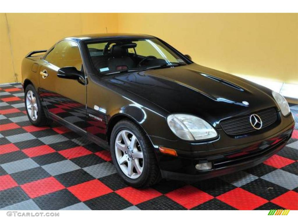 1998 black mercedes benz slk 230 kompressor roadster 13529017 car color galleries. Black Bedroom Furniture Sets. Home Design Ideas