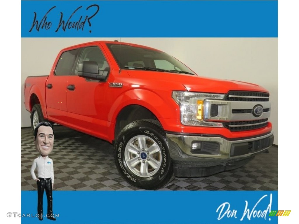 2018 F150 XLT SuperCrew 4x4 - Race Red / Earth Gray photo #1
