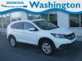 2012 White Diamond Pearl Honda CR-V EX-L 4WD  photo #1