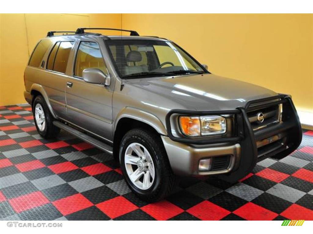 2002 pathfinder le 4x4 bronzed gray metallic beige photo 1