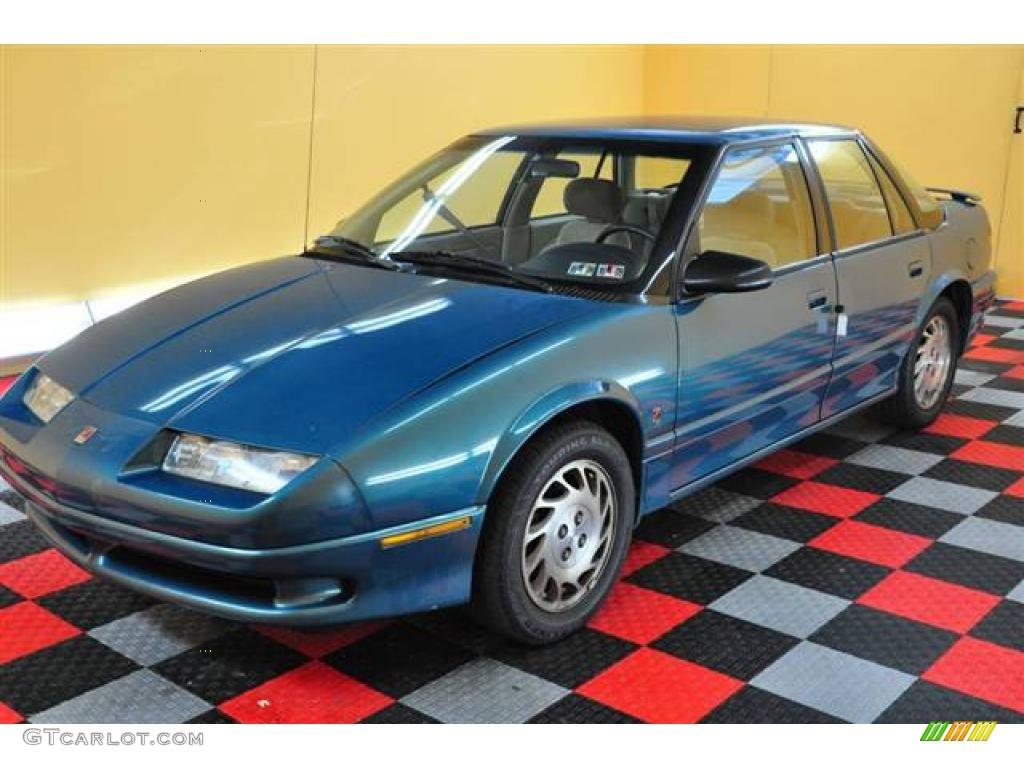1994 s series sl2 sedan blue green tan photo 3
