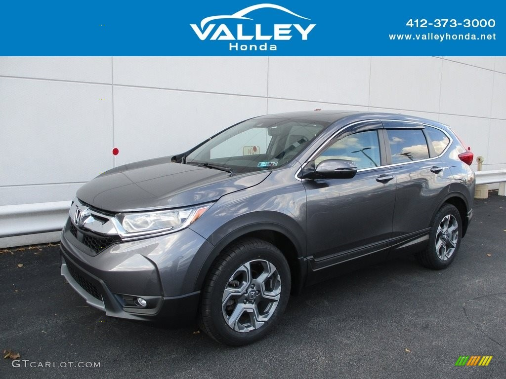 2017 CR-V EX-L AWD - Modern Steel Metallic / Gray photo #1