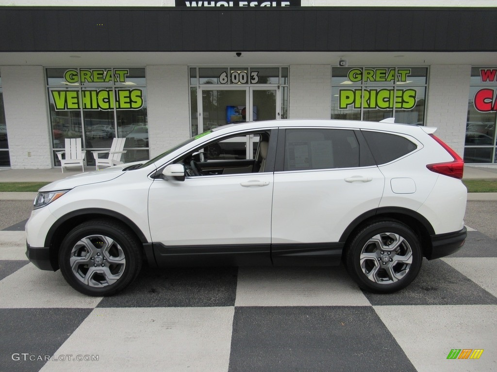 2018 CR-V EX AWD - White Diamond Pearl / Ivory photo #1