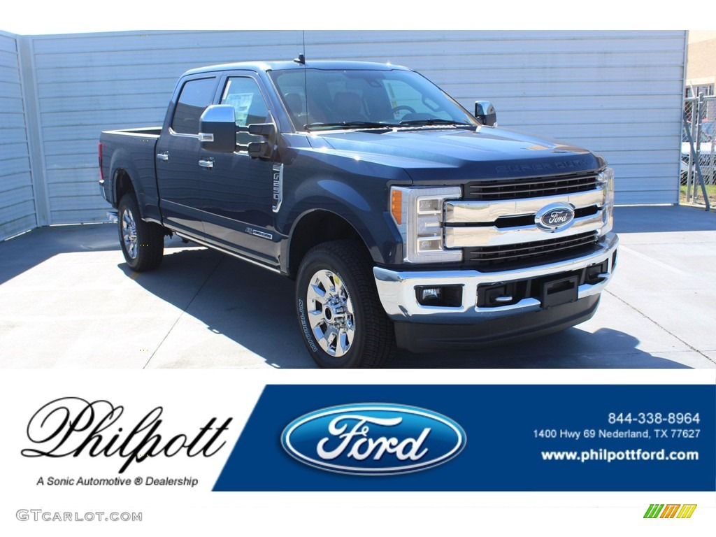 2019 F250 Super Duty King Ranch Crew Cab 4x4 - Blue Jeans / King Ranch Java photo #1