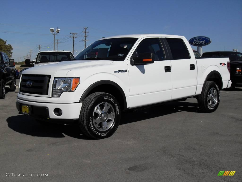 2009 oxford white ford f150 fx4 supercrew 4x4 1347776. Black Bedroom Furniture Sets. Home Design Ideas