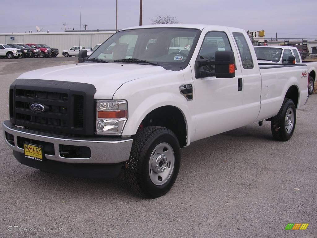 2009 oxford white ford f250 super duty xl supercab 4x4 1347792 car color galleries. Black Bedroom Furniture Sets. Home Design Ideas