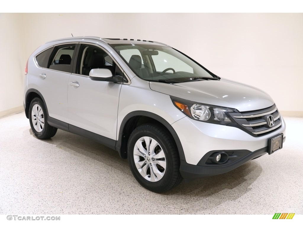 2014 CR-V EX-L AWD - Alabaster Silver Metallic / Black photo #1