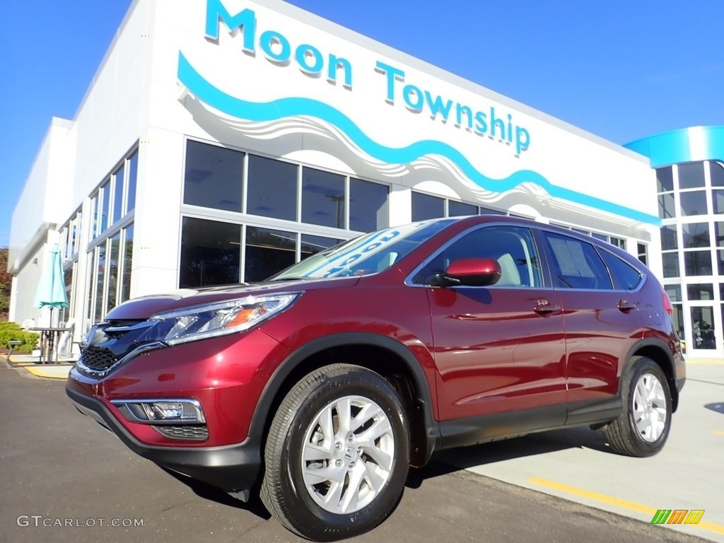2016 CR-V EX AWD - Basque Red Pearl II / Black photo #1