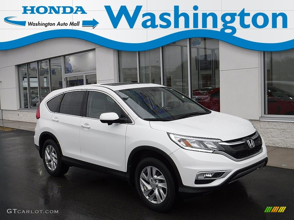 2015 CR-V EX AWD - White Diamond Pearl / Black photo #1