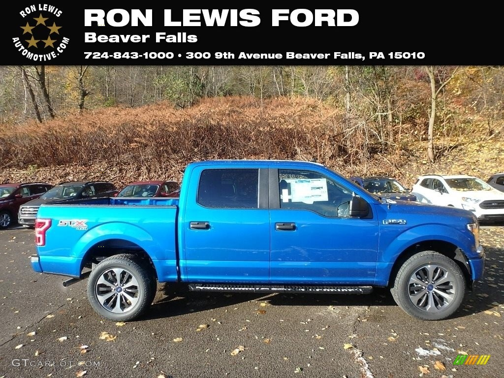 2020 F150 STX SuperCrew 4x4 - Velocity Blue / Black photo #1