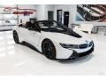 Crystal White Pearl Metallic 2019 BMW i8 Roadster