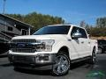 2019 White Platinum Ford F150 Lariat SuperCrew 4x4 #136020714