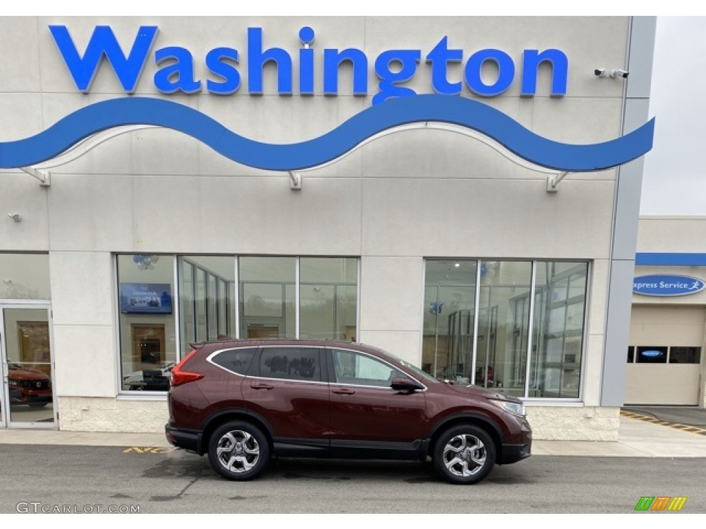 2019 CR-V EX AWD - Basque Red Pearl II / Gray photo #1