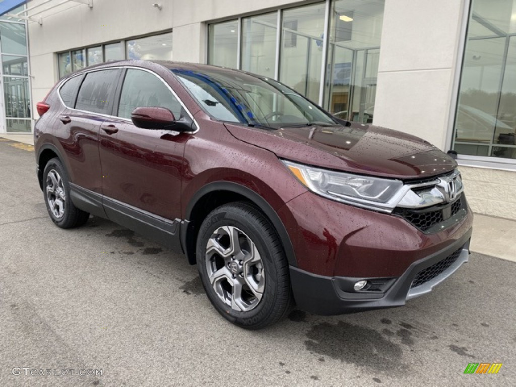 2019 CR-V EX AWD - Basque Red Pearl II / Gray photo #2