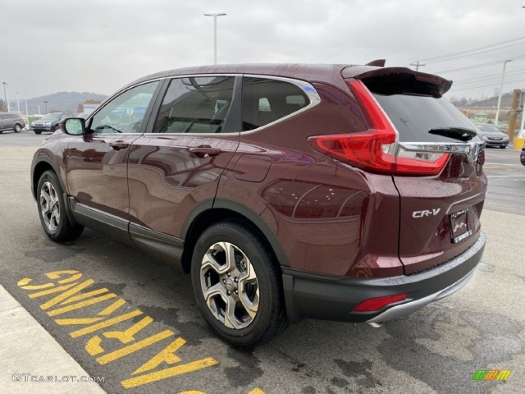 2019 CR-V EX AWD - Basque Red Pearl II / Gray photo #5