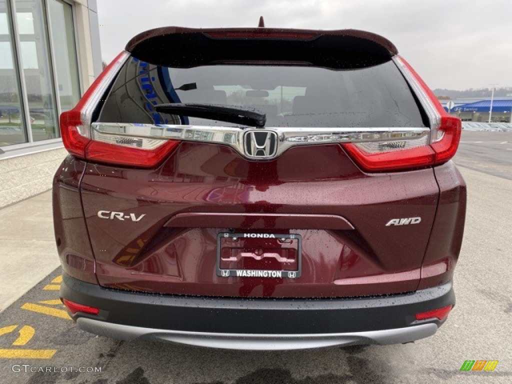 2019 CR-V EX AWD - Basque Red Pearl II / Gray photo #6
