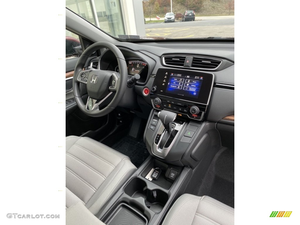 2019 CR-V EX AWD - Basque Red Pearl II / Gray photo #28