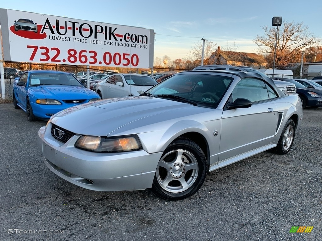 2004 Mustang Convertible - Silver Metallic / Medium Graphite photo #1