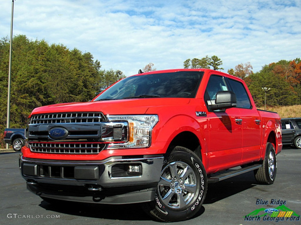 2019 F150 Lariat SuperCrew 4x4 - Race Red / Earth Gray photo #1