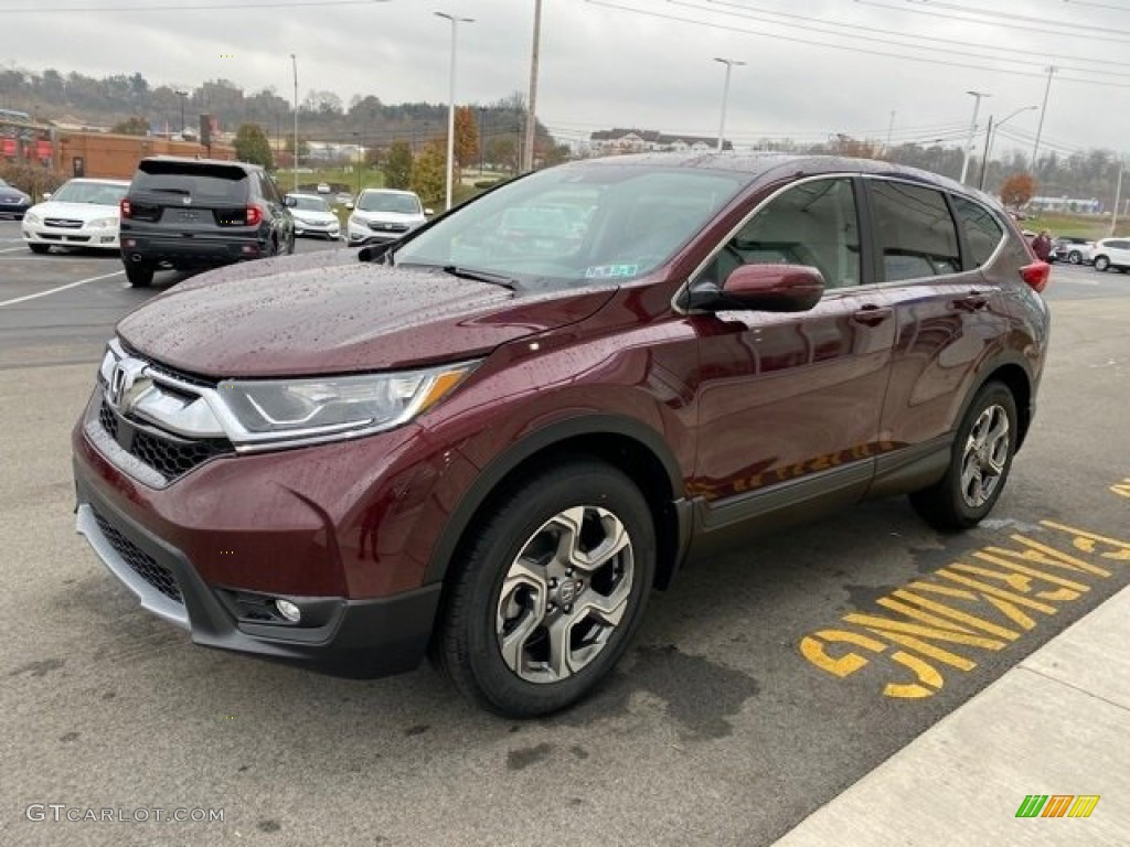 2019 CR-V EX AWD - Basque Red Pearl II / Gray photo #4
