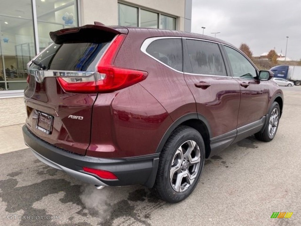 2019 CR-V EX AWD - Basque Red Pearl II / Gray photo #7