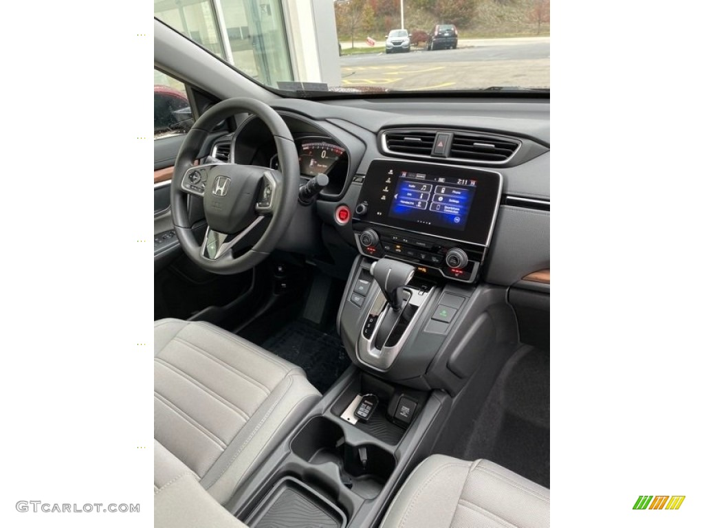 2019 CR-V EX AWD - Basque Red Pearl II / Gray photo #27