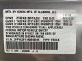 2019 Ridgeline Sport AWD Lunar Silver Metallic Color Code NH830M