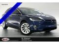 Deep Blue Metallic 2018 Tesla Model X 75D