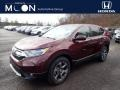 2019 Basque Red Pearl II Honda CR-V EX AWD  photo #1