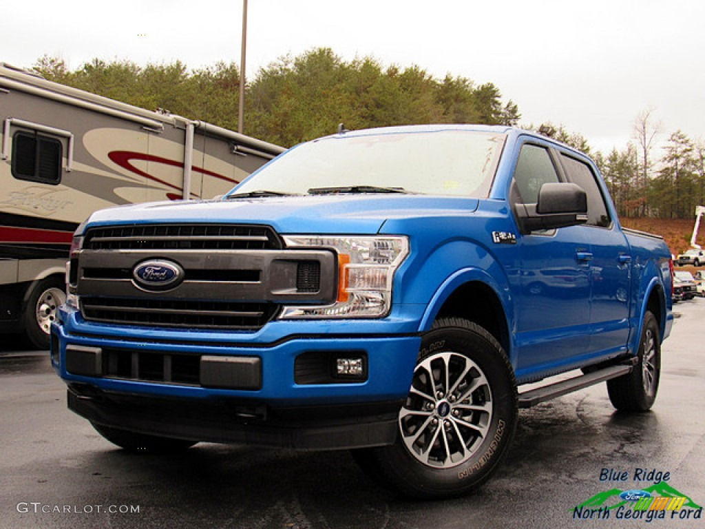 2019 F150 XLT SuperCrew 4x4 - Velocity Blue / Earth Gray photo #1
