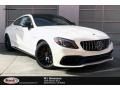 designo Diamond White Metallic 2020 Mercedes-Benz C AMG 63 S Coupe